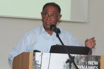 Dr Farouk Topan during a Kiswahili conference at the University of Bayreuth in Germany. PHOTO | HEZEKIEL GIKAMBI