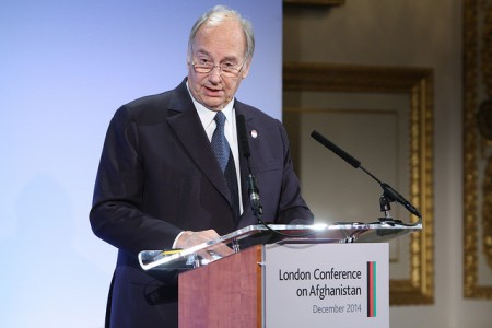 His Highness the Aga Khan at the 2014 London Conference on Afghanistan