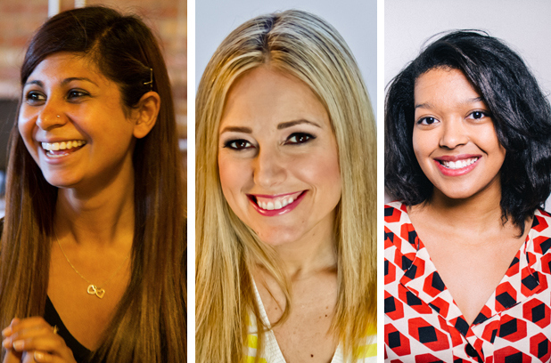 Amira Dhalla (left), Amber Mac (middle) and Ashley Jane Lewis (right) are just a few of the Canadian women working to change the field of technology for women. (Image via Metro News)