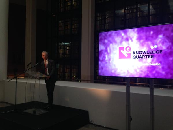 Roly Keating, announcing the launch of Knowledge Quartet (a consortium of 35 knowledge based institutions) at the British Library in the heart of London.