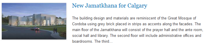 New Jamatkhana for Calgary