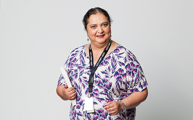 Outstanding Nurse Educator - Rozina Bhimani, Director of the Doctorate of Nursing Practice Program, St. Catherine University, and Certified Nurse Practitioner, North Point Wellness Center Clinic in North Minneapolis. (Photo: Becca Sabot)