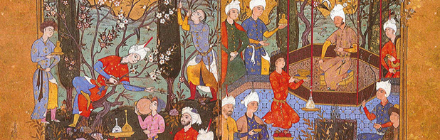 From the Diwan of Sultan Ibrahim Mirza, Iran, 1582.<br />  Image: Aga Khan Trust for Culture, Catalogue: Spirit and Life