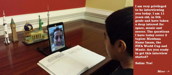 Qayl's FaceTime interview with Salim