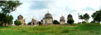 From Ismailimail Archives: Hyderabad, 10/01/13. The signing of the MoU has been preceded by a year-long documentation programme, where each of the 70 structures within the tomb complex - Deccan Park area have been documented and their conservation needs established. Topographical surveys of the entire 106 acre site have also been undertaken and a landscape master plan prepared - Photo: AKTC/India