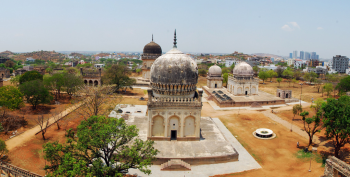 From Ismailimail Archives: Hyderabad, 10/01/13. The Quli Qutb Shah Archaeological Park, which includes the Qutb Shahi Tombs Complex and Deccan Park, is one of the most significant historic medieval necropolises in India. - Photo: AKTC/India