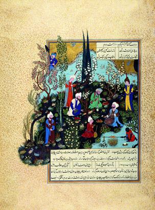 Folio from the Shahnama of Shah Tahmasp (ca. 1532).Image: Archnet