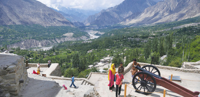 Tourists visit the Baltit fort in Karimabad, a town of the northern Hunza valley (Image: Gulf Times)