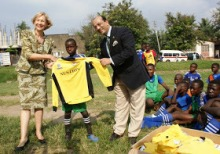 British High Commissioner in Tanzania meets Street Child World Champions 2014 in Mwanza
