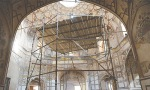SCAFFOLDING poles cover a portion of the Shahi Hammam, located near the Delhi Gate in the walled city, Lahore. It is currently undergoing restoration work by the Aga Khan Trust for Culture.