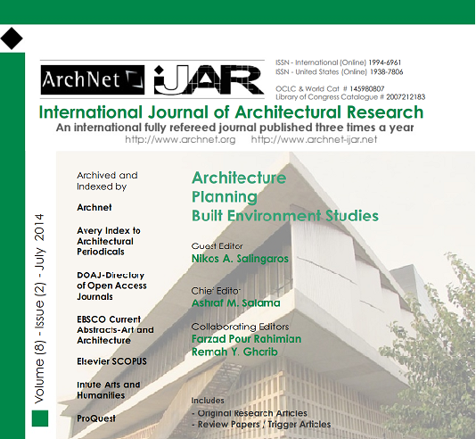 Archnet - iJAR - International Journal of Architectural Research