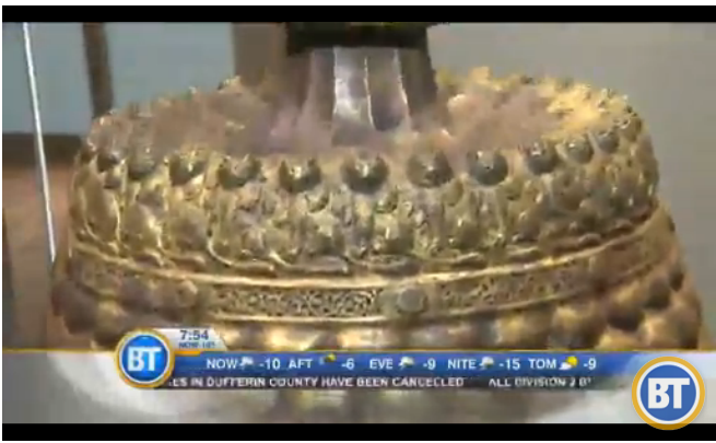 3 of 5: 900 years old candle stick holder from 12th Century Iran. (via Breakfast Television)