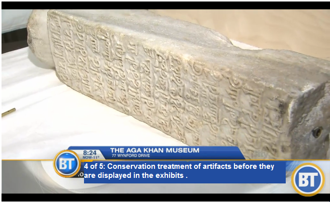 4 of 5: Conservation treatment of artifacts before they are displayed in the exhibits . (via Breakfast Television)