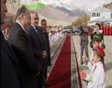 Young School Children welcome Mawlana Hazar Imam to Khorog