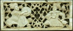 Carved Ivory Plaque with Drummer Fatimid Egypt, 11th-12th Century. (Image via Museo Nazionale del Bargello, Florence, Italy)