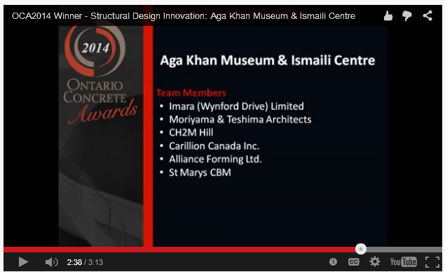 Ontario Concrete Awards - Aga Khan Museum and Ismaili Centre Toronto