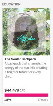 Salima Visram's Soular Pack on IndieGoGo