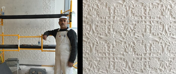 Tajik plaster work at the Ismaili Centre, Toronto