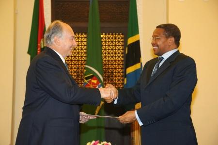 February 23, 2015: Photos: His Highness the Aga Khan with President of Tanzania Dr. Jakaya M Kikwete