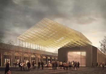 Architect Niall McLaughlin to design canopy structure for AKU campus, King's Cross, London