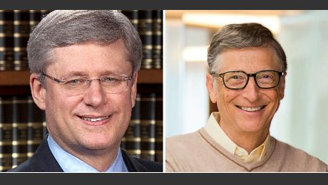 Stephen Harper joins Bill Gates for 'moderated discussion' on maternal health at Delegation of Ismaili Imamat