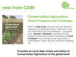 New Book by co-author Amir Kassam - Conservation Agriculture: Global Prospects and Challenges
