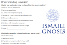 Vote for your favorite topic: Understanding Ismailism