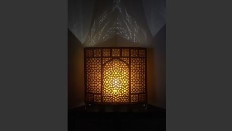 Lamp purchased from Noor Craft Centre, Nizamuddin Basti