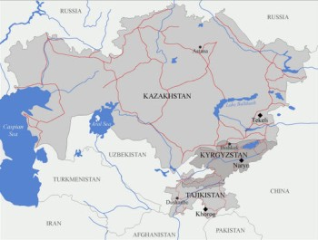 University of Central Asia (UCA) and its campuses in Kazakhstan, Kyrgyzstan and Tajikistan. (Image: UCA)