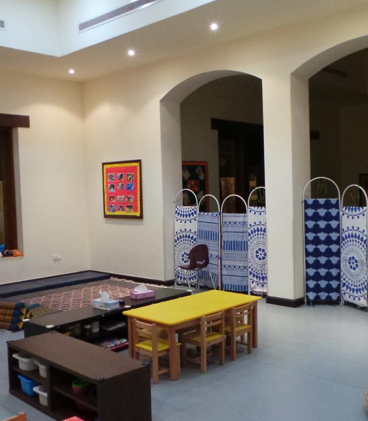 Inside the Aga Khan Early Learning Centre, Ismaili Centre, Dubai