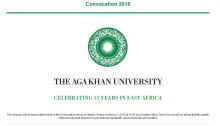AKU Convocation Nairobi Kenya Webcast