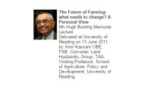 Professor Amir Kassam delivers the 6th Hugh Bunting Memorial Lecture at the University of Reading, UK