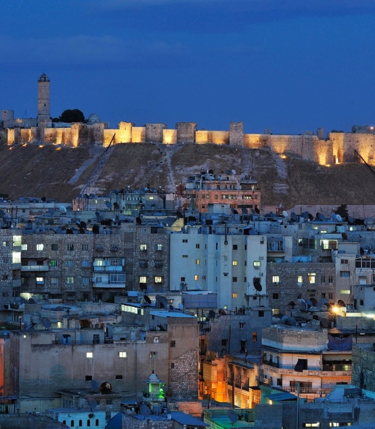 Aleppo's citadel in 2008: the Unesco World Heritage site has since suffered damage that will 'only be open for proper assessment when the war is over'. Photograph: Jean-Baptiste Rabouan/Hemis.fr via The Guardian.