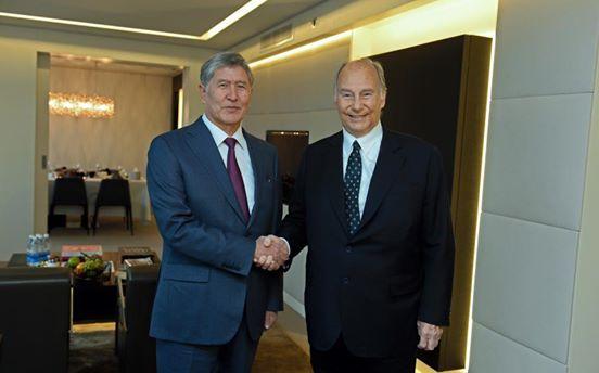 His Highness the Aga Khan with President Atambayev of Kyrgyz Republic