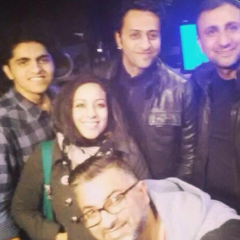 Kamal Haji , Samira, Jeff, Aziz with Salim Merchant