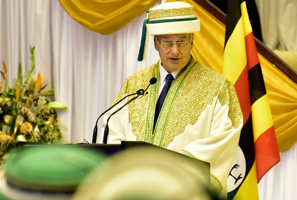 His Highness the Aga Khan during the 15th graduation ceremony of the Aga Khan University on Thursday said the university will focus on the health sector so that Ugandans do not seek quality healthcare abroad.