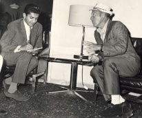 Sultan interviewing Bing Crosby, the legendary American singer, in Kenya