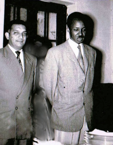 Sultan's father Kamrudin with Tanzani'as founding president Julius Nyerere