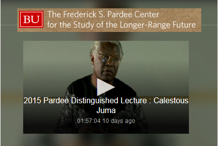 Dr. Calestous Juma, member of the AKU Board of Trustees delivers 2015 Pardee Distinguished Lecture at Boston University - video