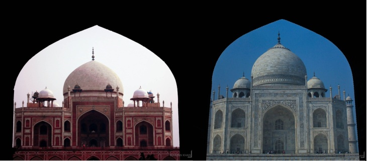 Humayun's Tomb and Taj Mahal (Image credit: Gilman Independent Research Islam - Malsi)