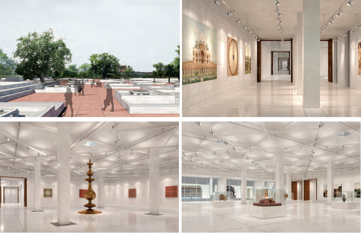 Humayun Tomb Site Museum - design renderings via AKDN-AKTC