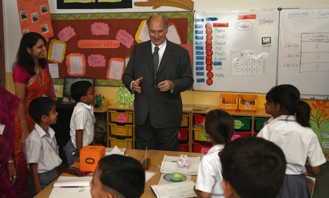 Mawlana Hazar Imam visits the Aga Khan Academy in Hyderabad with his family | The Ismaili