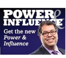 Power & Influence - spring 2015 - Calgary Mayor Nahid Nenshi on cover cover - mp
