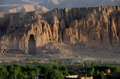 The site of the ancient Buddha Statues of Bamiyan, on outskirts of Bamiyan, Afghanistan. The monumental statues were carved into the sandstone cliffs in the early 6th and 7th centuries AD. The statues were destroyed by the Taliban in March 2001. (Image by © David Honl/ZUMA Press/Corbis) Via Smithsonianmag.com