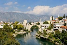 The Old Bridge of the city of Mostar in Bosnia-Herzegovina was destroyed in fighting between Croats and Muslims in the 1990s. In 2004 it was rebuilt, again serving to recognize a shared history (Image by © MATTES Rene/Hemis/Corbis) Via Smithsonianmag.com