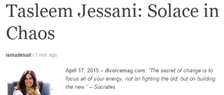 Tasleem Jessani: Solace in Chaos