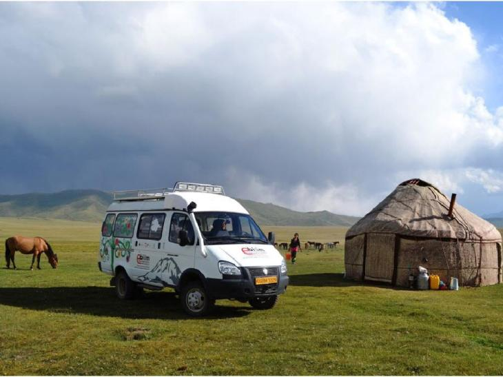 The Aga Khan's University of Central Asia (UCA) uses a specially equipped van that functions as a mobile digital library to upgrade education in rural areas of Kyrgyzstan. (image credit: UCA/Calgary Herald)