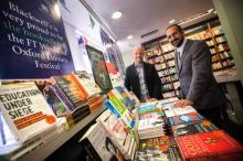 Zool Verjee, left, and David Kelly, of Blackwell's, the official bookseller for this year's Oxford Literary Festival. Picture: Damian Halliwell