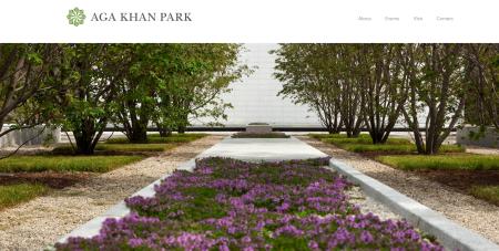 Aga Khan Park - Website