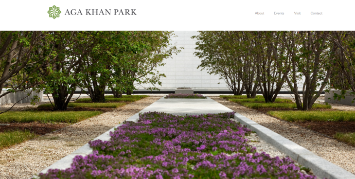 Aga Khan Park - Website